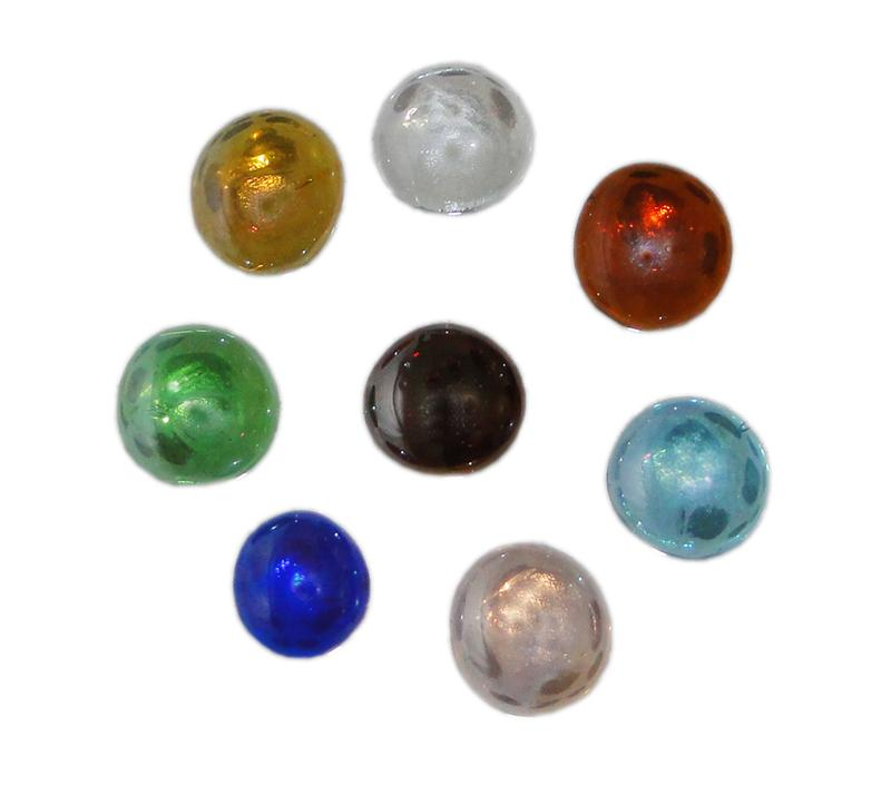Clear Colored Marbles : Flat marbles