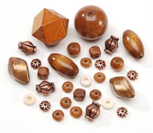 Pastic Wood Bead Assorted